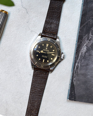 Vintage Brown Leather Watch Strap for rolex submariner