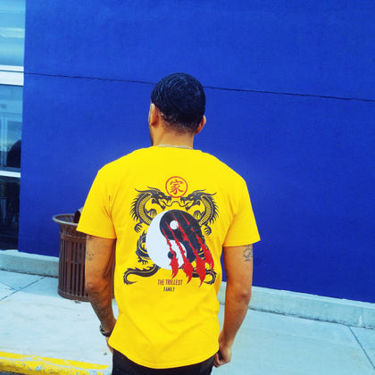 Yellow Dragon Family Tee. The perfect everyday wear t-shirt.