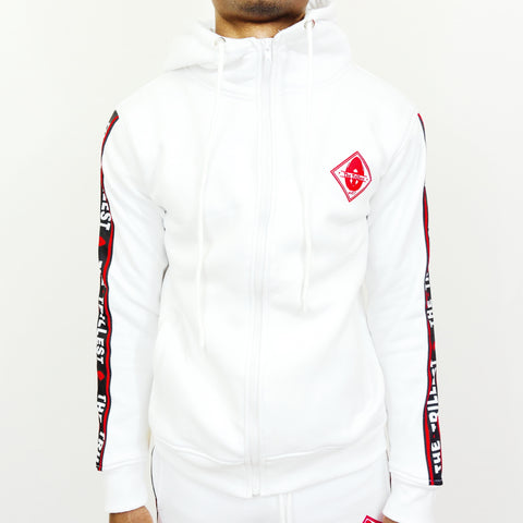 White Hoodied Sweatsuit