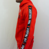 Red Hoodied Sweatsuit