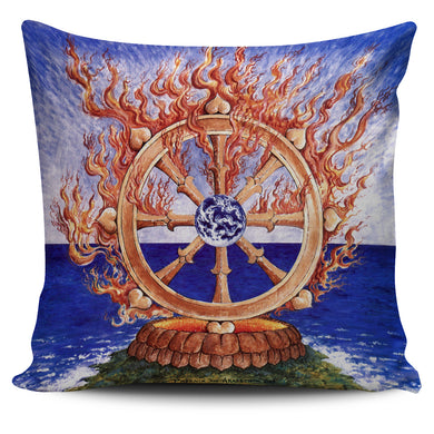 PILLOW | DHARMA WHEEL | Phoenix & Arabeth