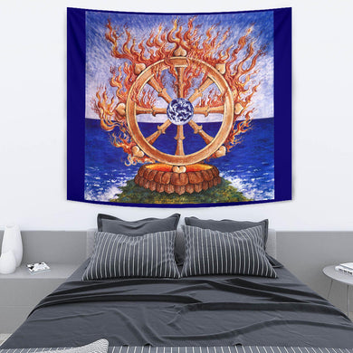 TAPESTRY | WHEEL OF DHARMA | Phoenix & Arabeth