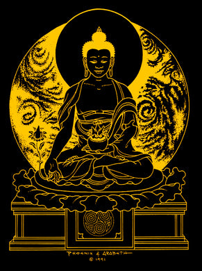 GOLDEN MEDICINE BUDDHA - Wall Art by Phoenix & Arabeth