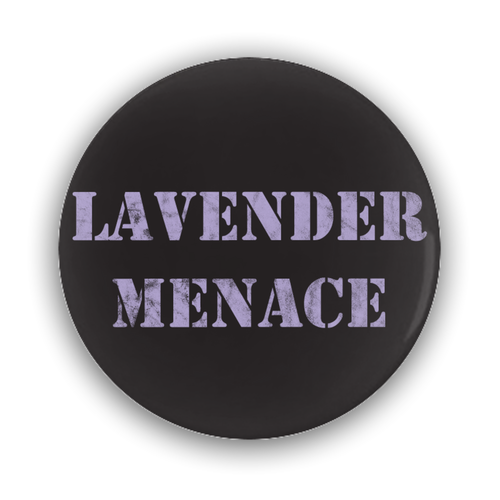 Lavender Menace Black Button