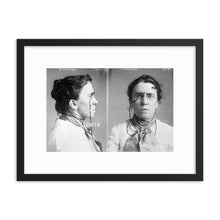 Load image into Gallery viewer, Emma Goldman Mugshot Framed Poster