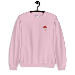 Carnation Revolution Embroidered Sweatshirt