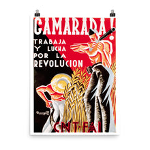 Load image into Gallery viewer, Comrade! Spanish revolution poster