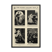 Load image into Gallery viewer, Sydney Sailors' Riot Framed Poster