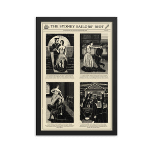 Sydney Sailors' Riot Framed Poster