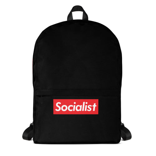 Socialist Black Backpack