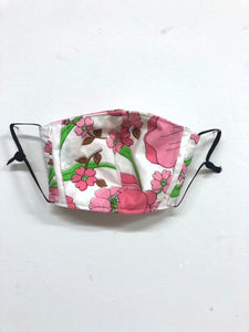 Vintage Flower Health Mask with Filter Pocket - Ear Loops