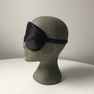 Silk & Hemp Sleep Mask in Black