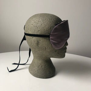 Silk Aromatherapy Mask Ashy Logwood with velvet tie