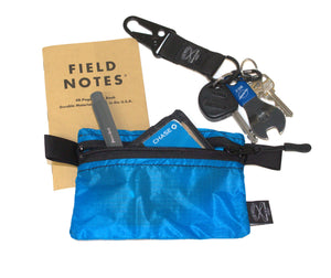 "Ultralight Zip Pouch 5.75""x4"" (Blue) - Cedar Waxcraft"