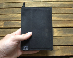 Waxed Canvas Field Notes Cover (Black) - Cedar Waxcraft