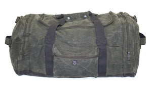 Waxed Canvas Duffle Bag (Green) - Cedar Waxcraft