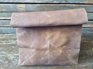 Waxed Canvas Lunch Bag (Brown) - Cedar Waxcraft