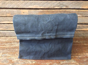 Waxed Canvas Lunch Bag (Black) - Cedar Waxcraft