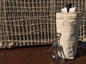 Waxed Canvas Wine Tote - Cedar Waxcraft