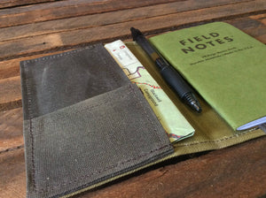 Waxed Canvas Field Notes Cover (Natural) - Cedar Waxcraft