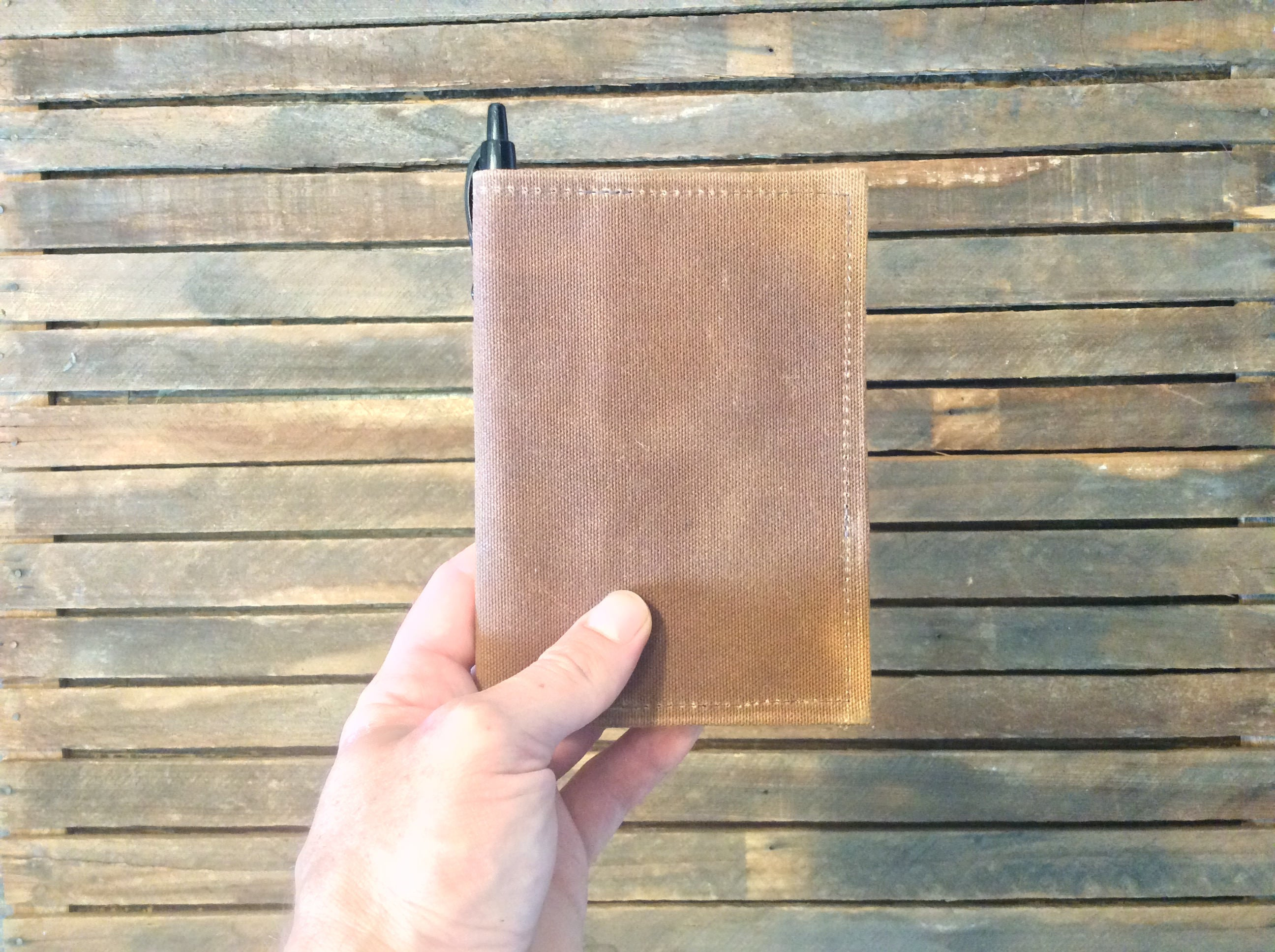 Waxed Canvas Field Notes Cover (Brown) - Cedar Waxcraft