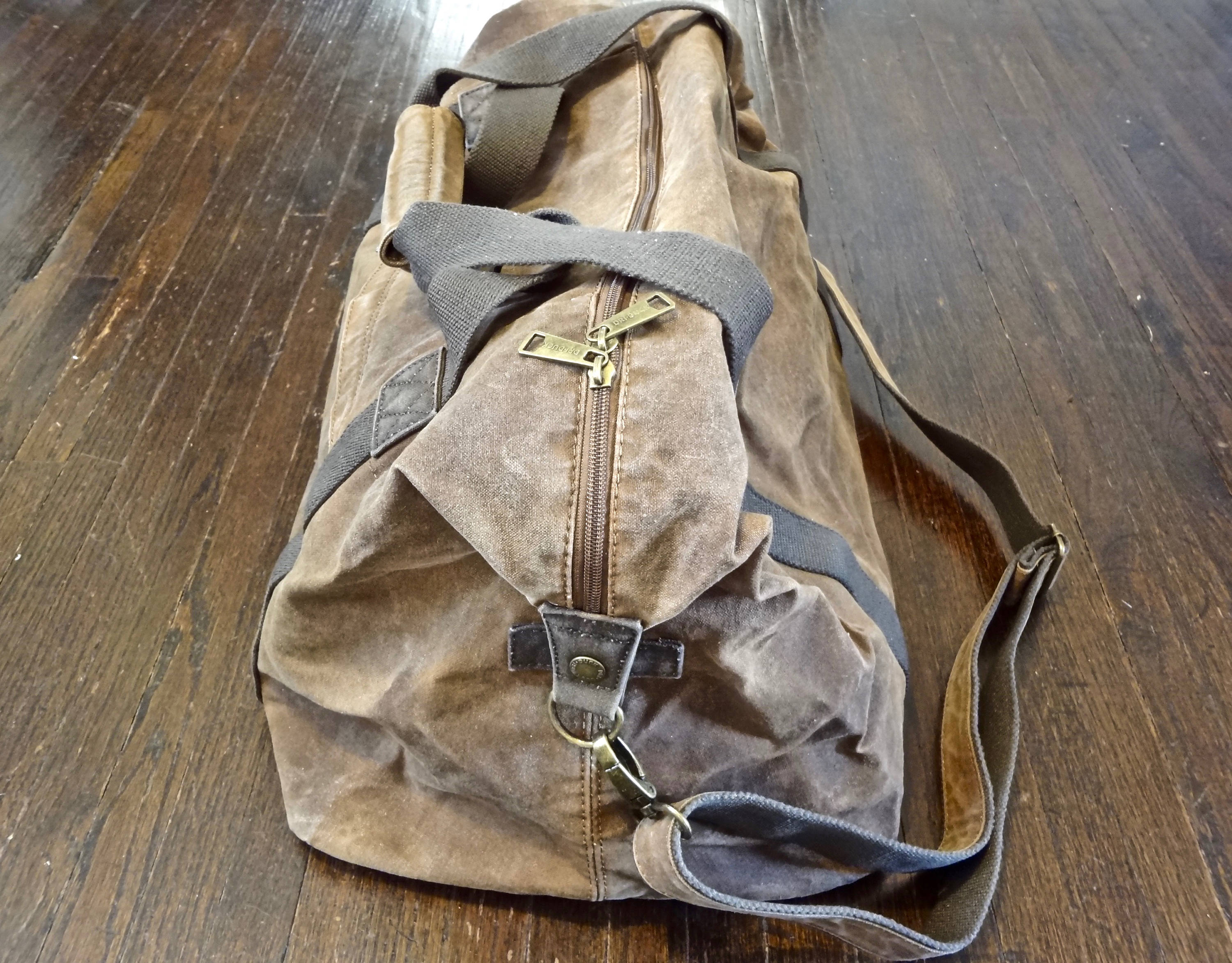 Waxed Canvas Weekender Bag (Brown) - Cedar Waxcraft