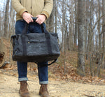 Waxed Canvas Weekender Bag (Black) - Cedar Waxcraft