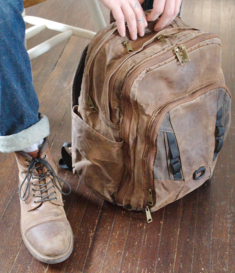 Waxed Canvas Backpack (Brown) - Cedar Waxcraft