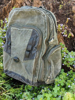 Waxed Canvas Backpack (Green) - Cedar Waxcraft