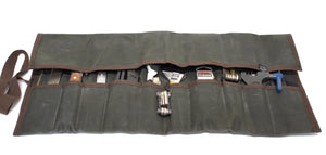 Waxed Canvas Tool Roll - Cedar Waxcraft