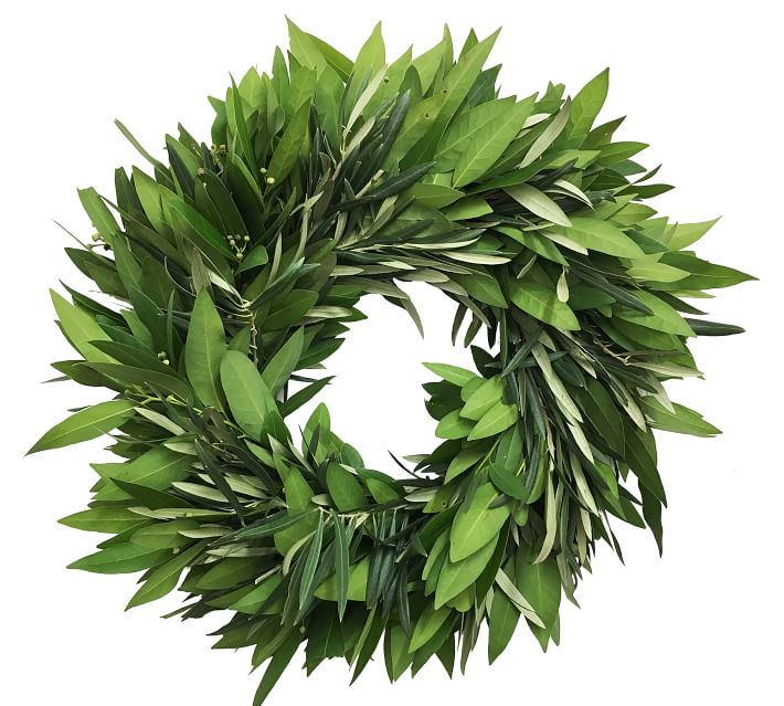 Fresh Bay & Olive Wreath