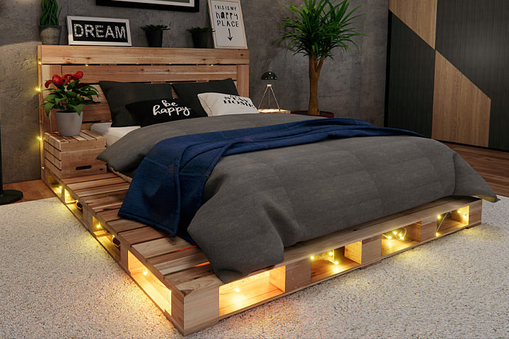 FREE Crate Side Table with any Pallet Bed or Platform purchase