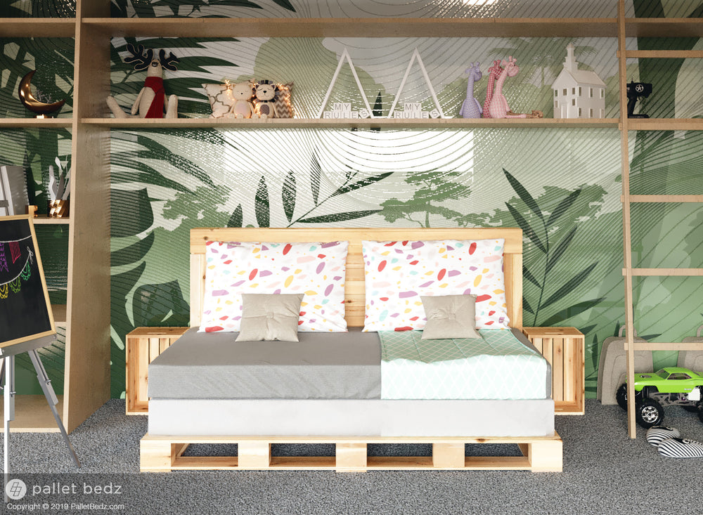 Pallet Bed in a Daybed style for a child's bedroom