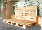 Twin Size Pallet Bed Frame in a futon style by Pallet Bedz