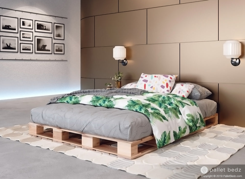 Platform Bed for Full Size Mattress - Pallet Beds