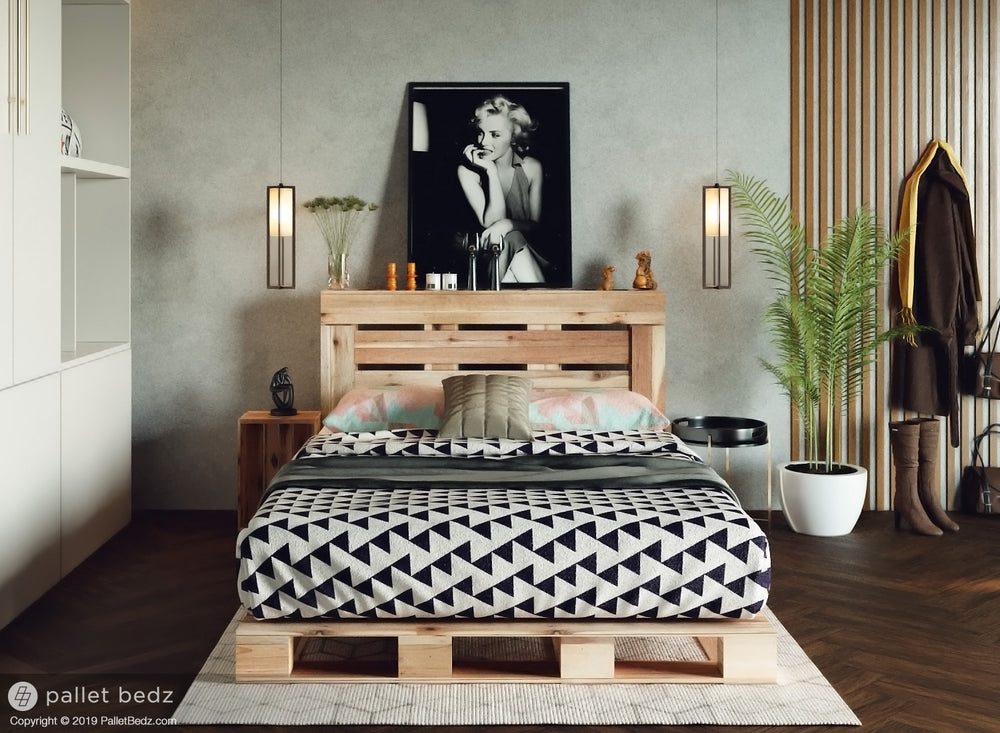 Pallet Platform Bed for Full Size Mattress