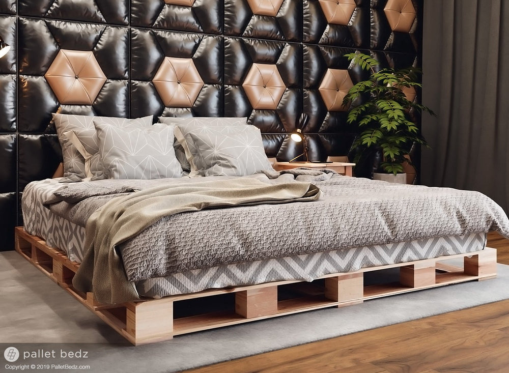 King Platform Pallet Bed by Pallet Bedz Co.