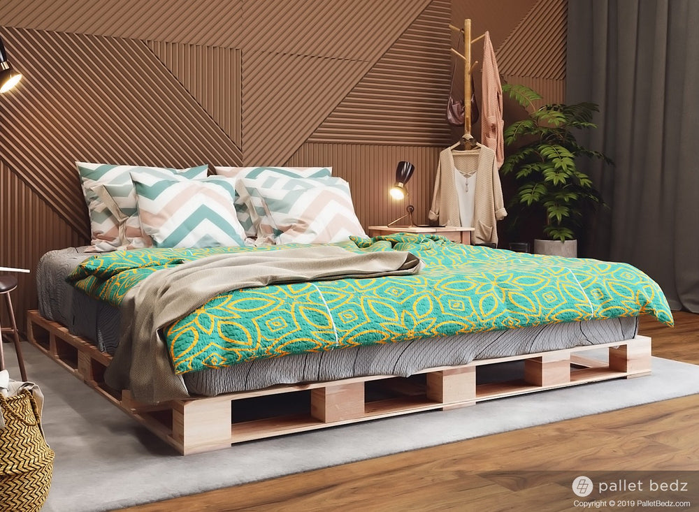 King Size Platform Bed - Pallet Style Bed by Pallet Bedz Co.