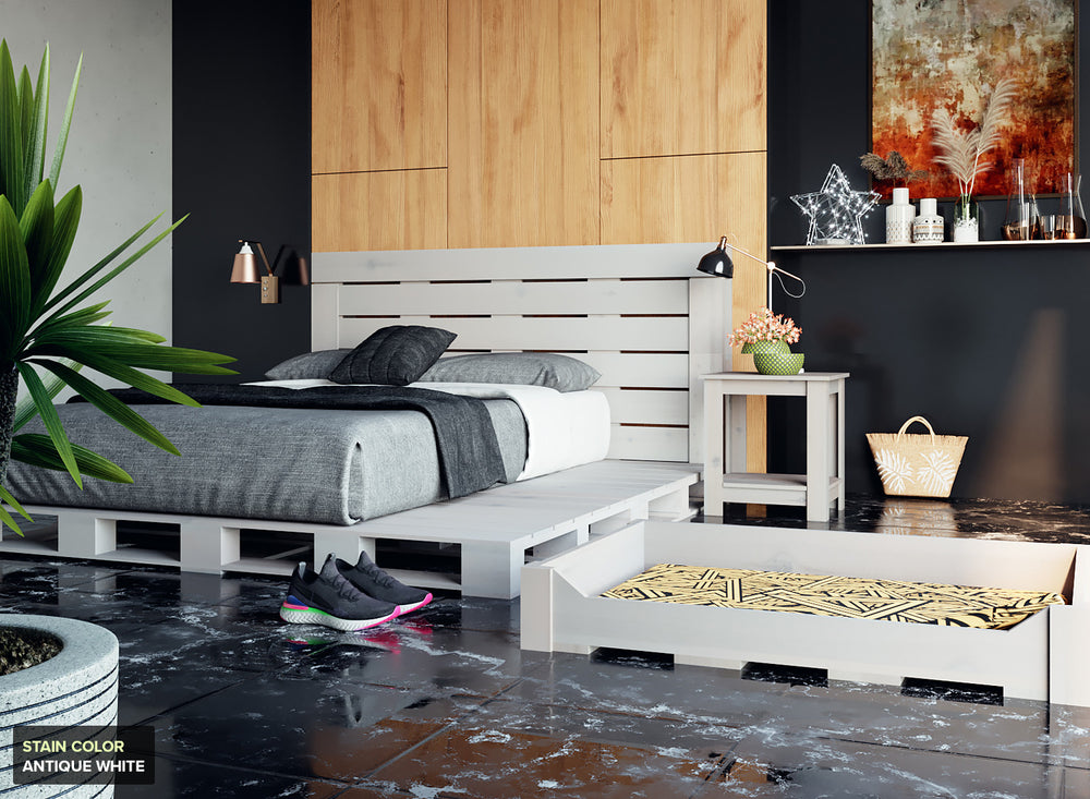 The Oversized Queen Pallet Bed