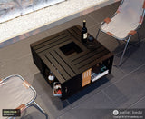 Pallet Wood Coffee Table - Wooden Crate Table - Espresso