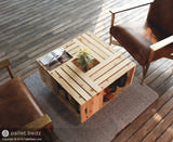 Pallet Wood Coffee Table - Wooden Crate Table in Natural Finish