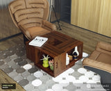 Pallet Wood Coffee Table - Wooden Crate Table - Rustic