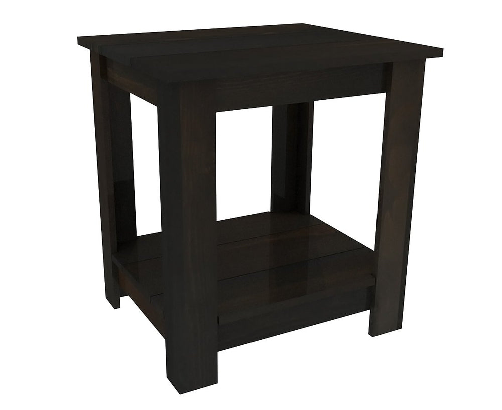 Pallet Wood Night Stand - Nightstand by Pallet Beds - Espresso