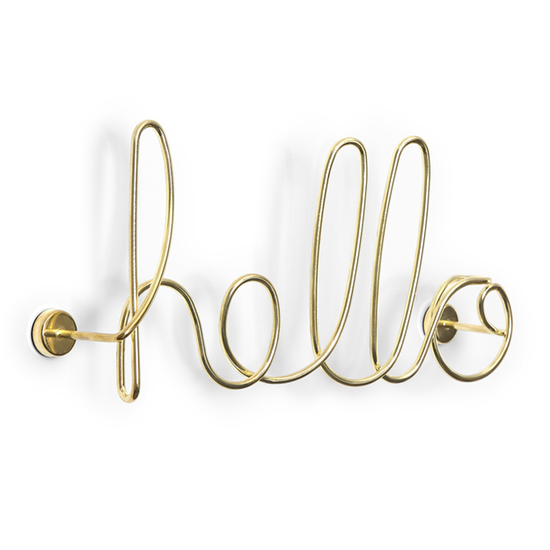 "Wired ""hello"" Sign"