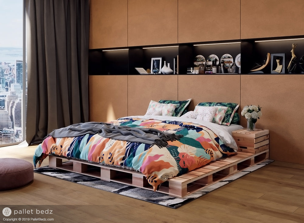 Queen Size Platform Bed - Pallet Style Bed by Pallet Bedz Co.