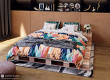 Queen Size Platform Bed - Pallet Beds