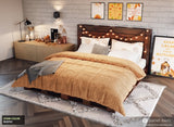 Pallet Beds - King Platform Bed in Rustic Stain for Fall