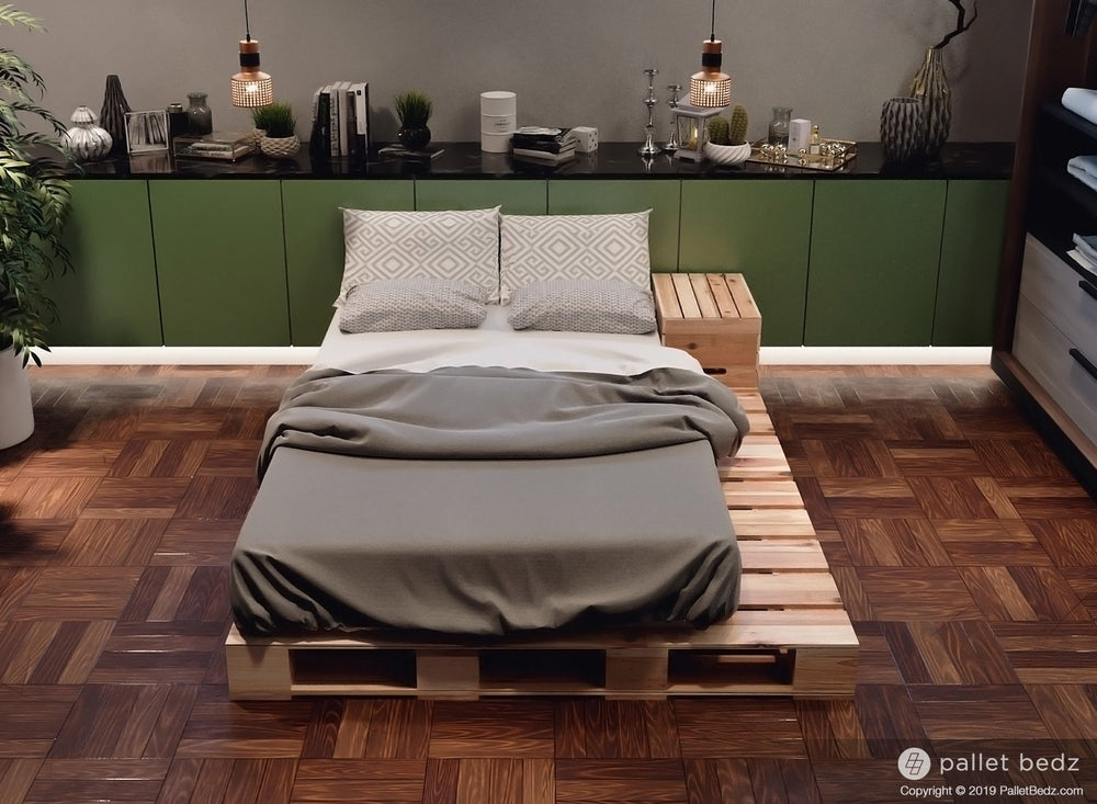 Twin Size Pallet Bed - Platform Bed by Pallet Bedz Co.