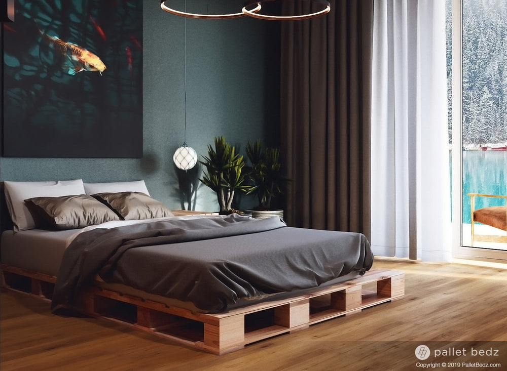 Platform Bed for Twin Size Mattress - Pallet Beds