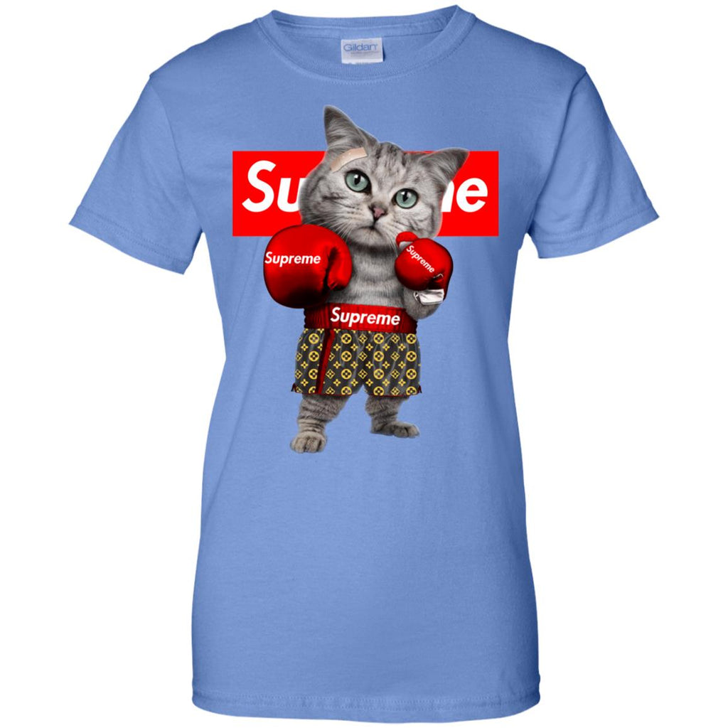 f86a9c9bf Supreme Boxing Cat Best Funny Ladies' T-Shirt Iris Amazon Best Sellers - Ut
